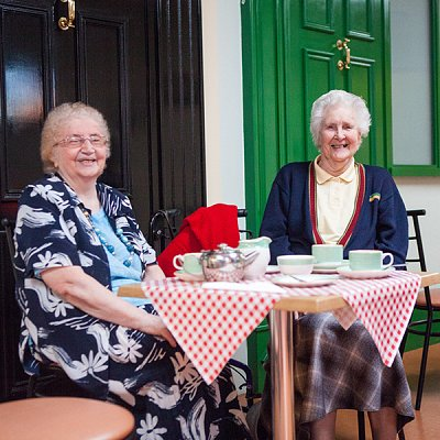 Ladies having tea