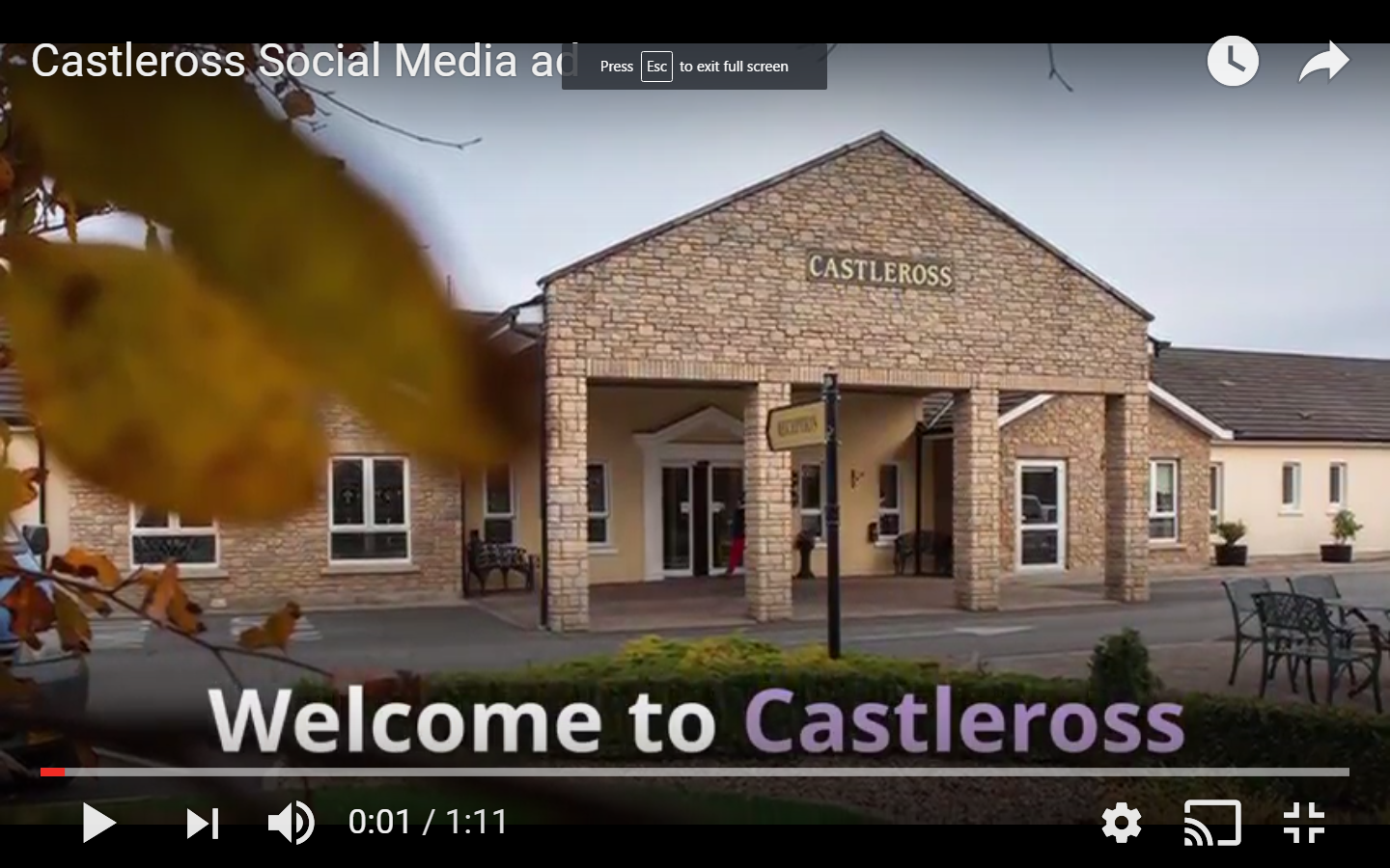 We hope you enjoy our new Castleross video showing aspects of Castleross